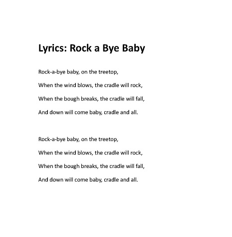 The Most Por And Common Version Of Song Is Shown In Video Below You Can Also Find Corresponding Rock A Bye Baby Lyrics At End
