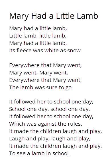 This Nursery Rhyme Originated In The 19th Century America It Was Based On An Actual Incident And Will Always Recall Sweet Memories Of Childhood