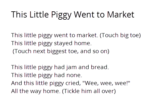 2 This Little Piggy Went To Market