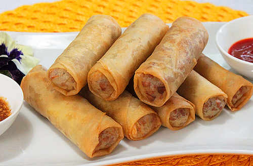 fried egg rolls also introduced by chinese egg rolls are