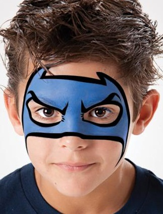 Easy Superhero Face Paint