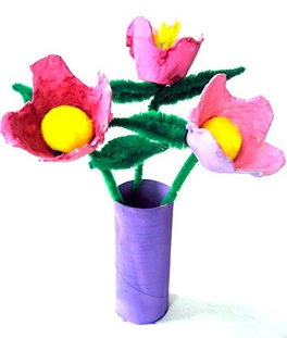 Egg carton crafts top 8 easy and fun ideas new kids center Egg carton flowers ideas