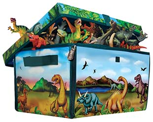 The Unzipped Bin Makes An Island Play Mat For Your Boys Dinosaurs Vehicles