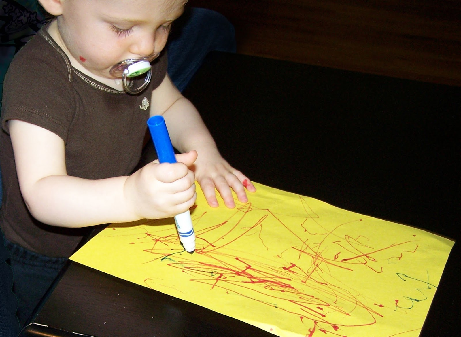 Child writing paper