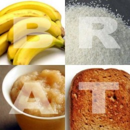 Banana Rice Apple Sauce And Toast BRAT Are Great Foods That Can Help Your Child When She Is Sick This Acronym Easy To Remember These
