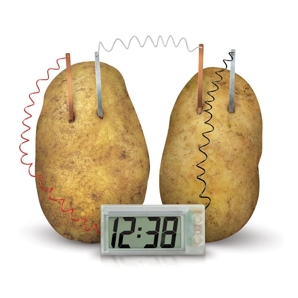 potato clock science fair project Explore the science behind the popular potato battery science fair project want to know how potato batteries work it might simply look like a couple of potatoes with clips, wires and pennies sticking out of them in all directions but when you connect the wires and pennies – wow it creates energy.