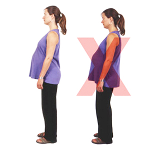 what is the right sitting position for pregnant women