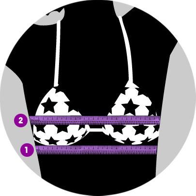 This calculator estimates bra size based on bust size and frame size (band size). To ensure accuracy, measure to the nearest ¼ inch or ½ cm. This calculator provides results for the United States, the United Kingdom, European Union, Australia, and New Zealand.